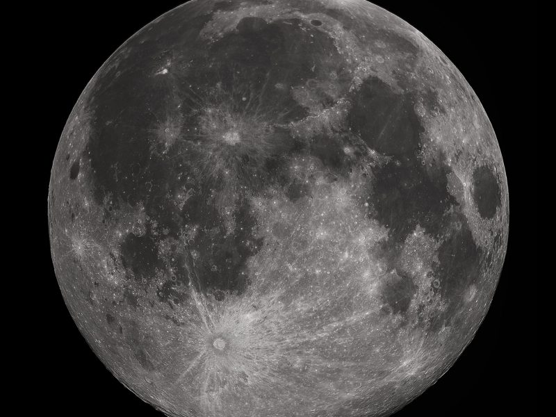 Blink and you will miss it. The full moon. Photo: Wikimedia Commons