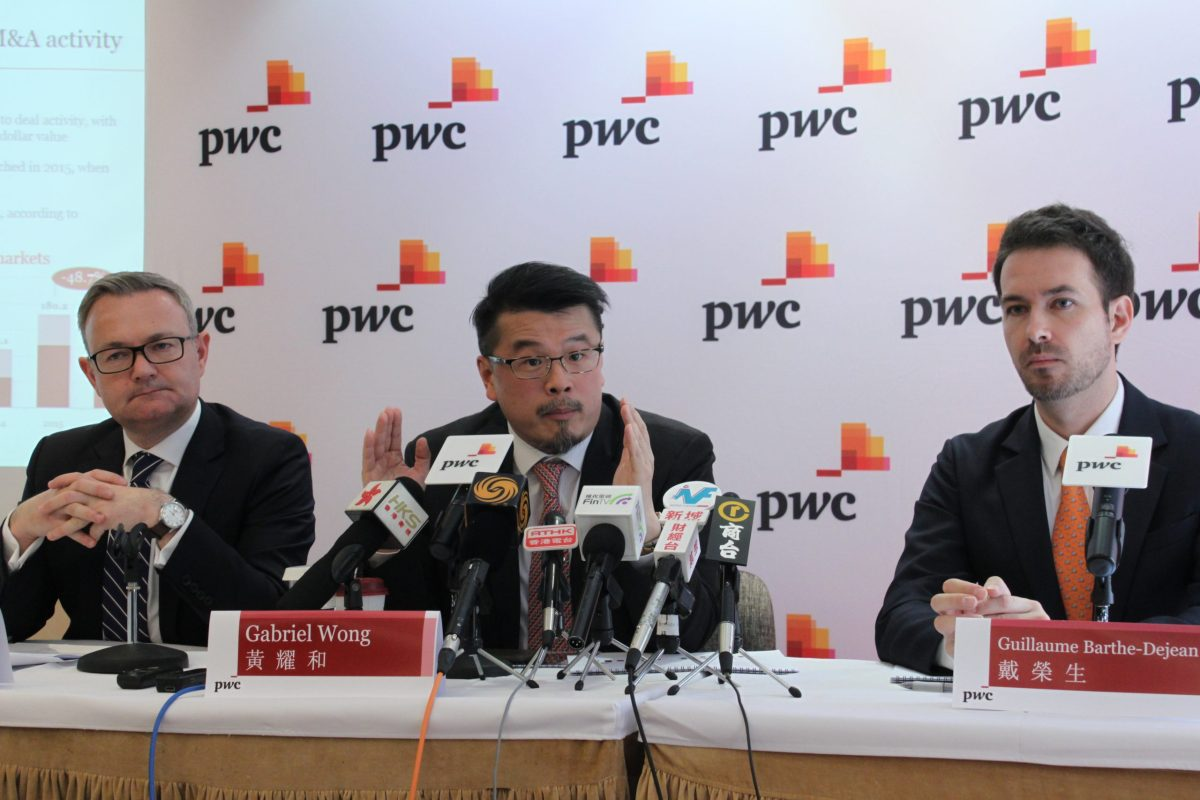 Gabriel Wong, head of China corporate finance for PwC China and Hong Kong, says funding demands for projects will continue to drive capital flows from China. Photo: Asia Times