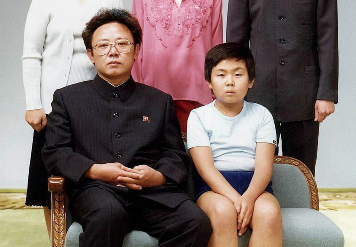 Kim Jong-il, then North Korean leader, with his son, Kim Jong-nam in 1981. Photo: AFP