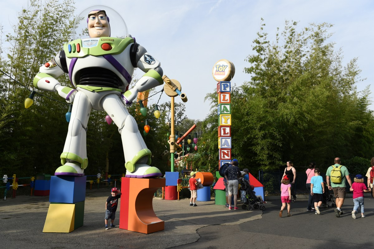 Rocket Man bombs: Buzz Lightyear mistaken for explosive device. Photo: Bertrand Guay / AFP