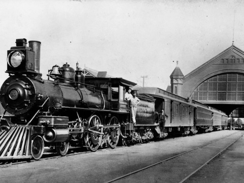 Steam train at Arcade Station in Los Angeles 1891. Photo: Wikimedia Commons