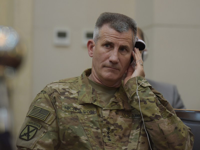 General John Nicholson, commanding general of US and NATO forces in Afghanistan, launched a tirade against Russia's role and intentions in Afghanistan in a BBC interview.