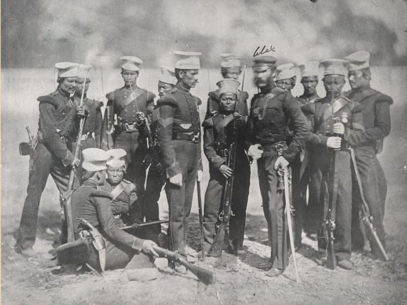 The Nusseree Battalion, later known as the 1st Gurkha Rifles, circa 1857. Photo: Wikimedia Commons