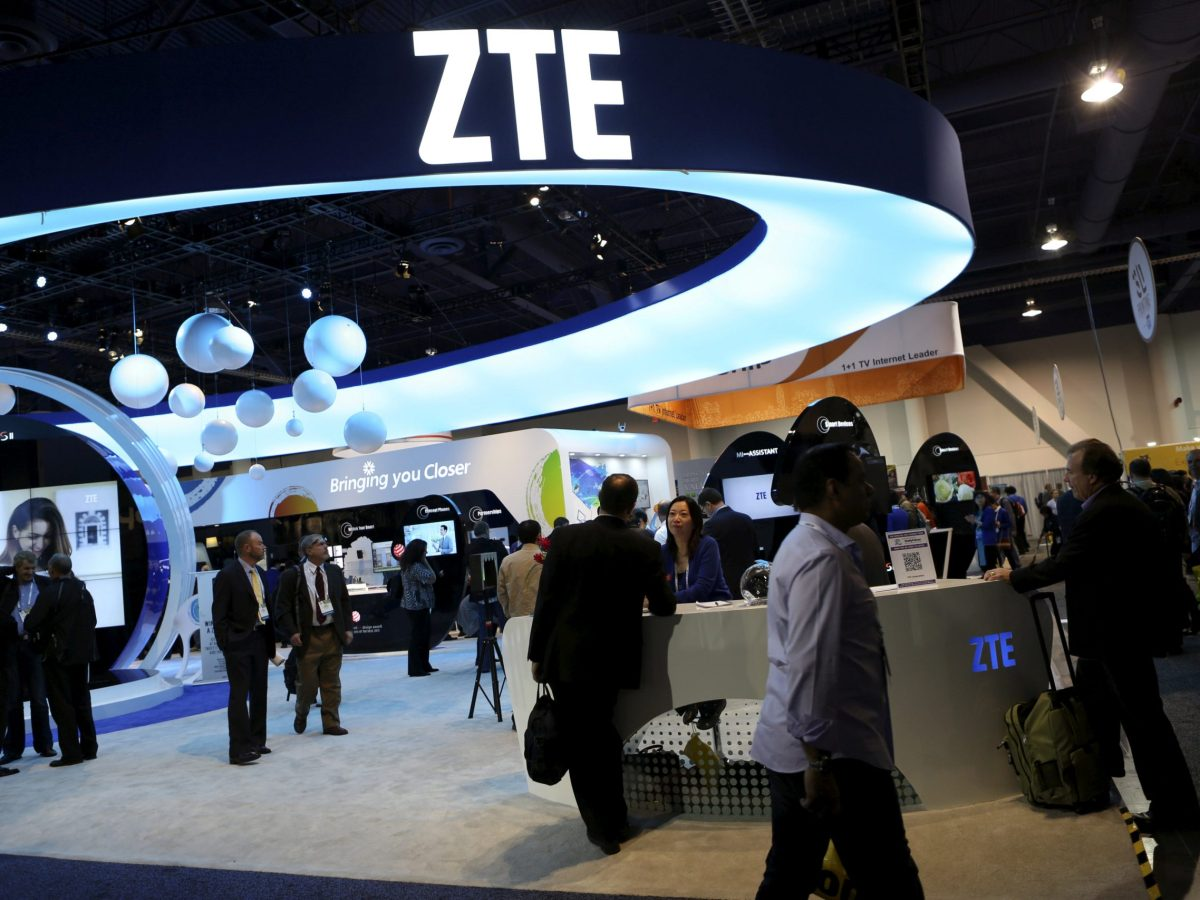 ZTE saw its share price plummet in Hong Kong and Shenzhen. Photo: Reuters / Robert Galbraith