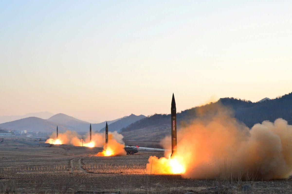 North Korean leader Kim Jong-un supervised a ballistic rocket launch drill of Hwasong artillery units of the Strategic Force of the KPA. Photo: KCNA via Reuters