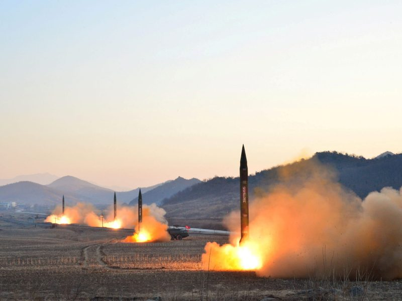 North Korean leader Kim Jong-un supervised a ballistic rocket launch drill of Hwasong artillery units of the Strategic Force of the KPA. Photo: KCNA via Reuters