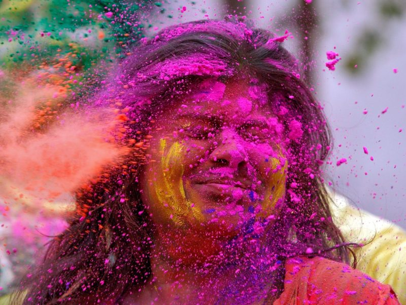 Holi, India's traditional festival of colors, is now reporting a new kind of sexual harassment against women. File Photo