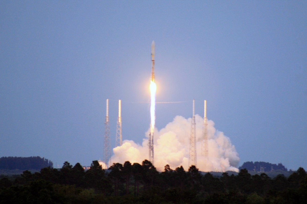 An Atlas V rocket is launched. Photo: US Air Force/John Connell via Wikimedia Commons