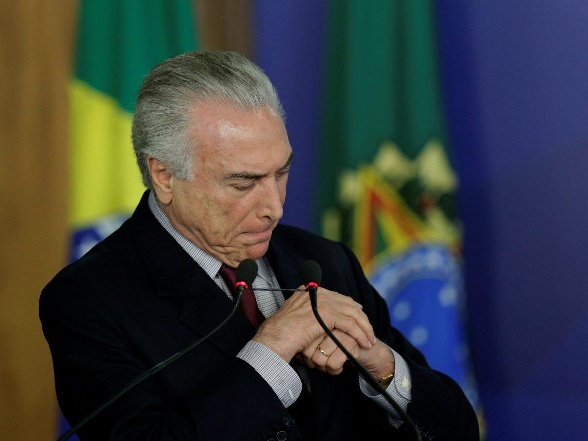Brazil's President Michel Temer. Photo: Reuters / Ueslei Marcelino