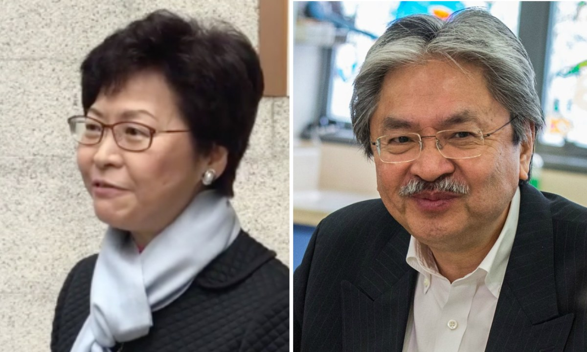 Carrie Lam (L) and John Tsang (R) will compete for Hong Kong's top job on Sunday. Photo: Facebook/ John Tsang/ Carrie Lam