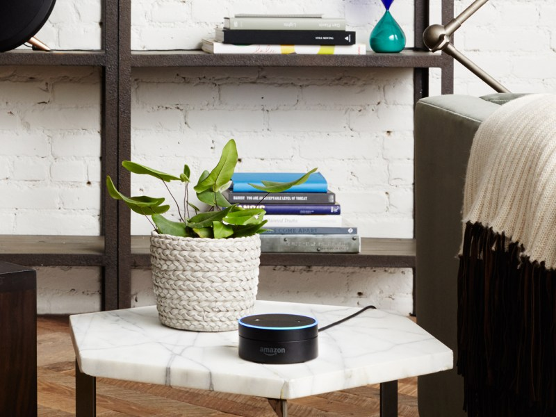 Amazon's Echo Dot bluetooth speakers are always listening. Photo: Amazon
