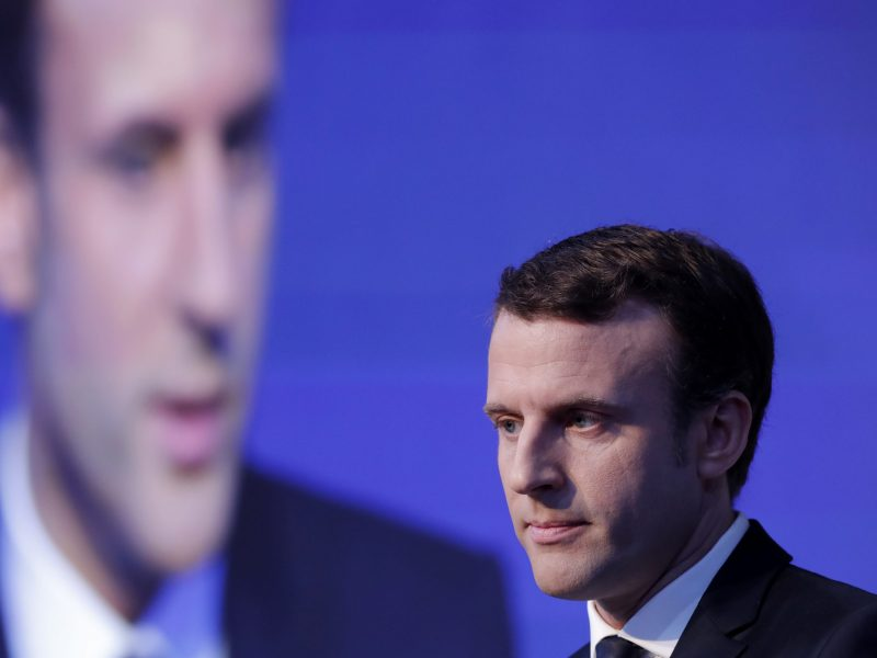 French presidential candidate Emmanuel Macron. Photo: Reuters, Christian Hartmann