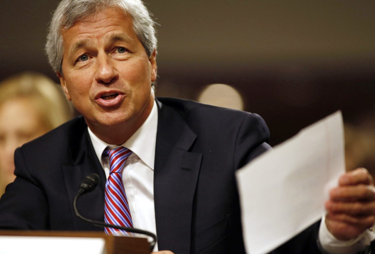 JP Morgan Chase and Company CEO Jamie Dimon. Photo: Reuters / Larry Downing
