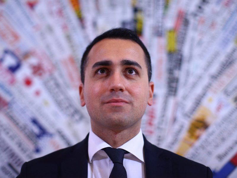 Luigi Di Maio of the 5-Star Movement looks on as he attends a news conference in Rome, Italy. Photo: Reuters, Alessandro Bianchi