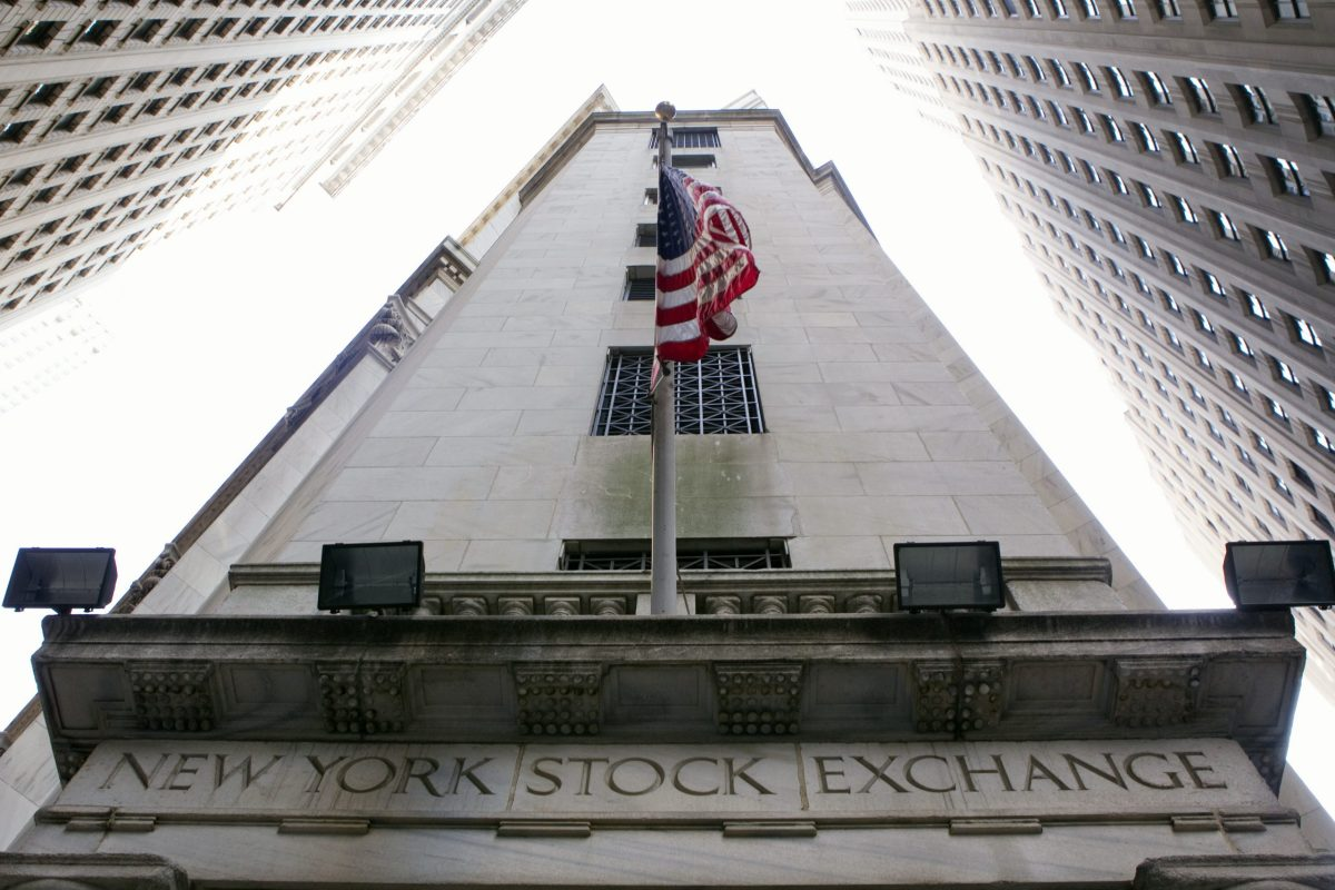 View of the New York Stock Exchange building on Wall Street. Photo: Reuters/Lucas Jackson