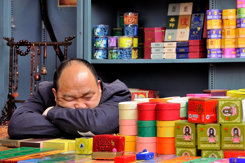 Now, rising income levels among the Chinese and changing eating habits in China have brought new health problems, including insomnia and increased rates of obstructive sleep apnea. Photo: FreeGreatPicture.com