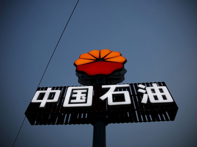 PetroChina's logo is seen at its petrol station in Beijing. Photo: Reuters, Kim Kyung-hoon