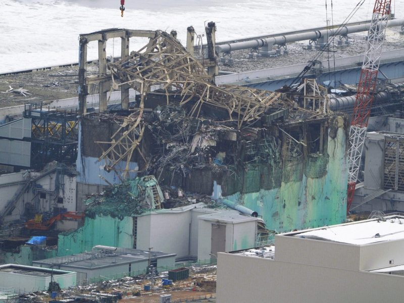 The mangled wreckage of Unit 3 is seen at the tsunami-crippled Fukushima Daiichi nuclear power plant in Fukushima prefecture. Photo: Reuters/ Kyodo
