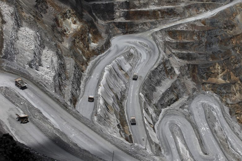 Trucks operate in the open-pit mine of PT Freeport's Grasberg copper and gold mine complex near Timika, in the eastern region of Papua, Indonesia Photo: Reuters / Muhammad Adimaja /Antara Foto