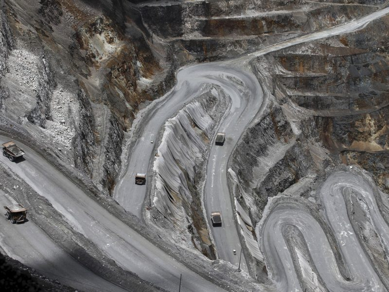 Trucks operate in the open-pit mine of PT Freeport's Grasberg copper and gold mine complex near Timika, in the eastern region of Papua, Indonesia Photo: Reuters / Muhammad Adimaja /Antara Foto
