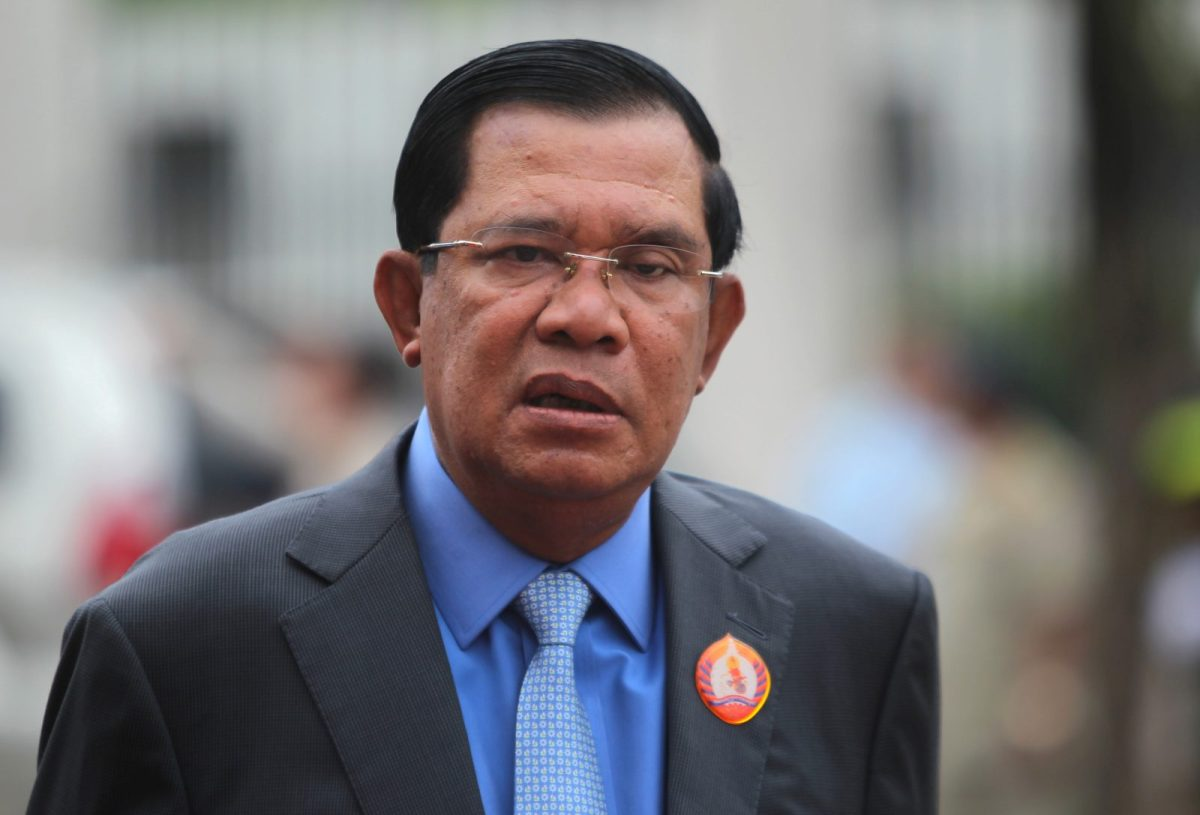 President of the ruling Cambodian People's Party (CPP) and Prime Minister Hun Sen attends a ceremony at the party headquarters to mark the 65th anniversary of the establishment of the party in Phnom Penh June 28, 2016. REUTERS/Samrang Pring - RTX2ILH9