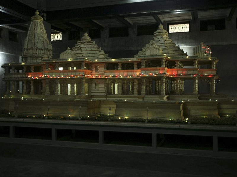 A model of a proposed Ram temple, which Hindus want to build on the site of the demolished Babri Mosque, is pictured in  Ayodhya in 2010. Photo: Reuters