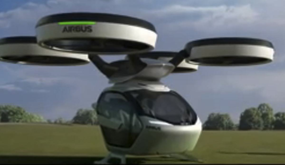 The Airbus concept car that can become an aircraft. Photo: Airbus video