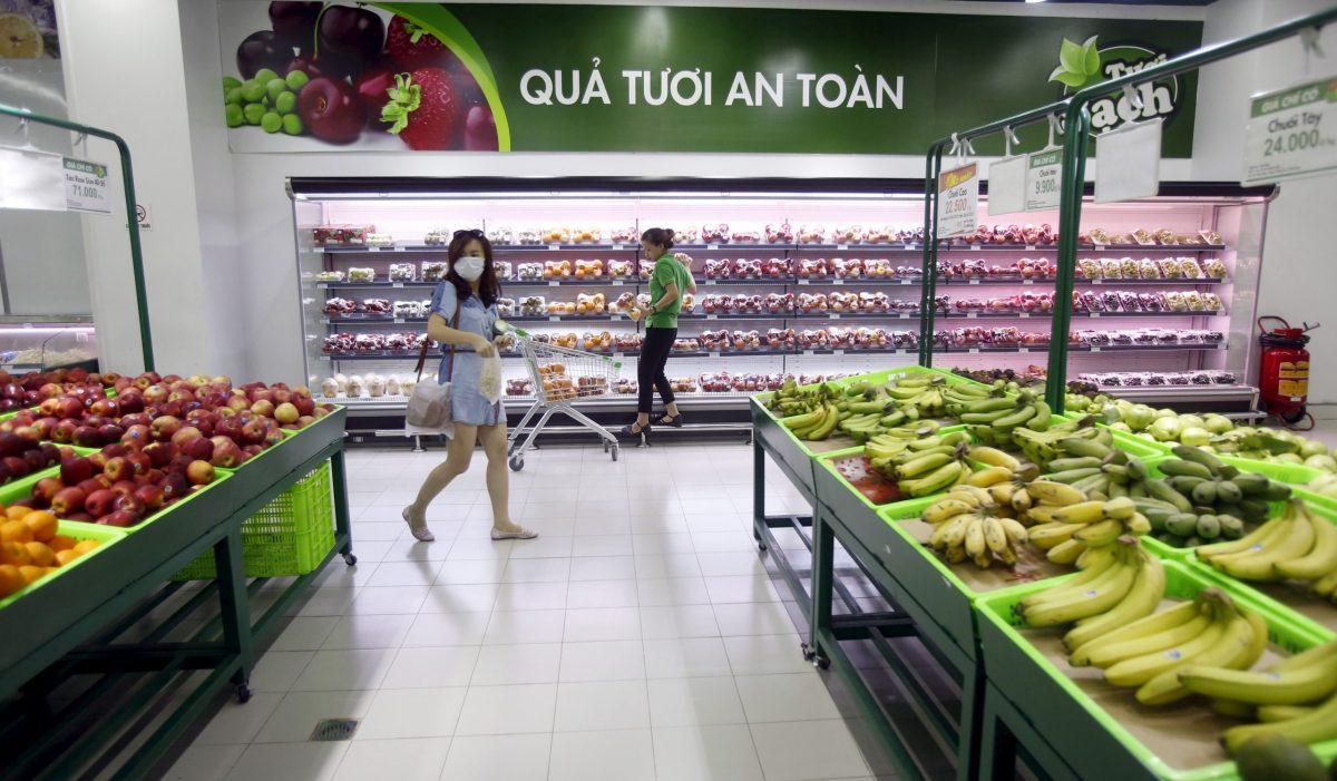 A supermarket in Hanoi. Photo: Reuters