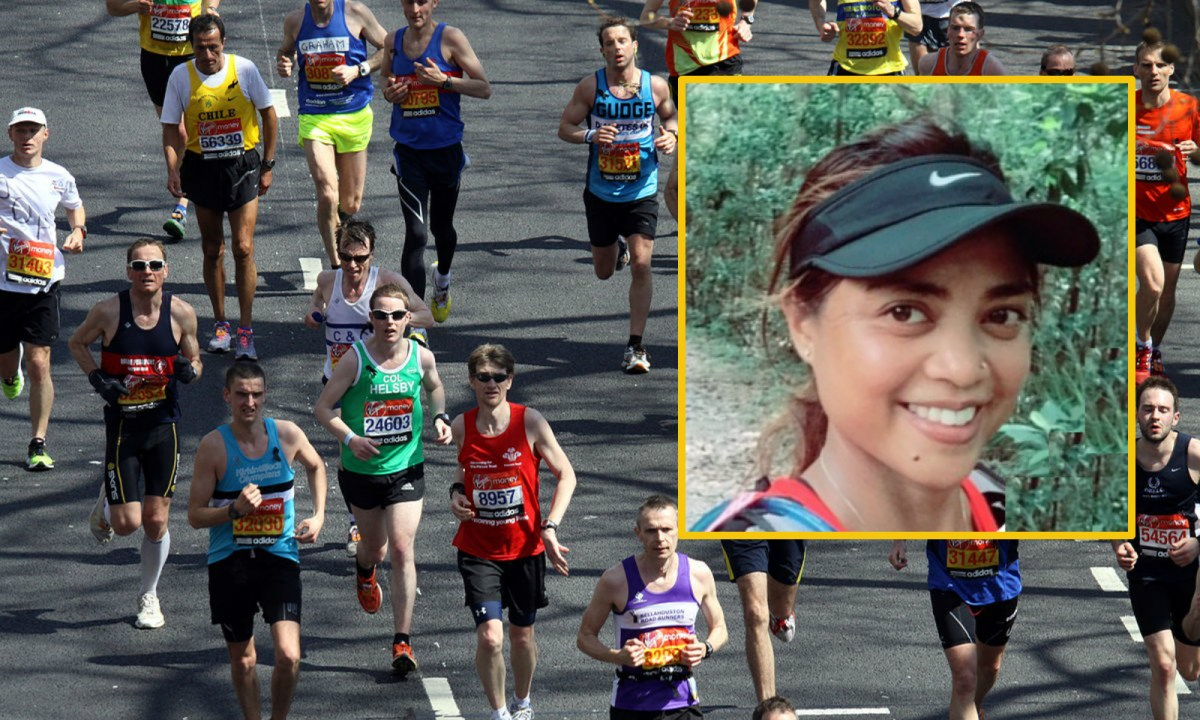 Theresa Calo (inset) will compete in the world-famous London Marathon in April. Photo: Wikimedia Commons, Theresa Calo
