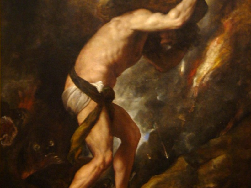 Have the Fed's Herculean efforts to control the levers of growth been as pointless as the labors of Sisyphus? Photo: Wikimedia Commons