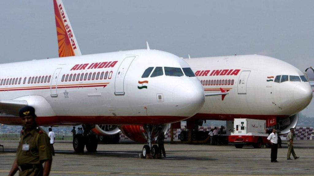 Two Air India planes parked at Mumbai airport. Photo: Reuters