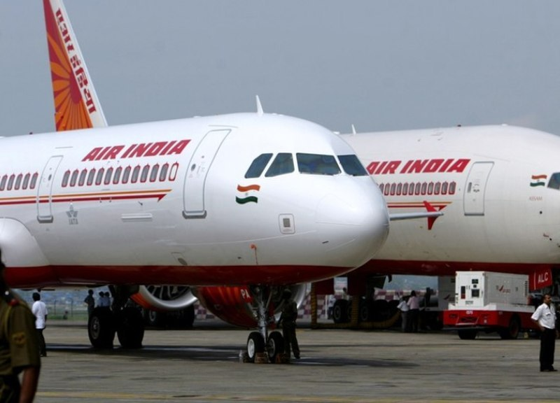 Two Air India planes parked at Mumbai airport. Photo: Reuters