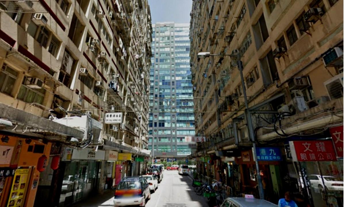 Man Ying Street in Yau Ma Tei in Kowloon Photo: Google Map