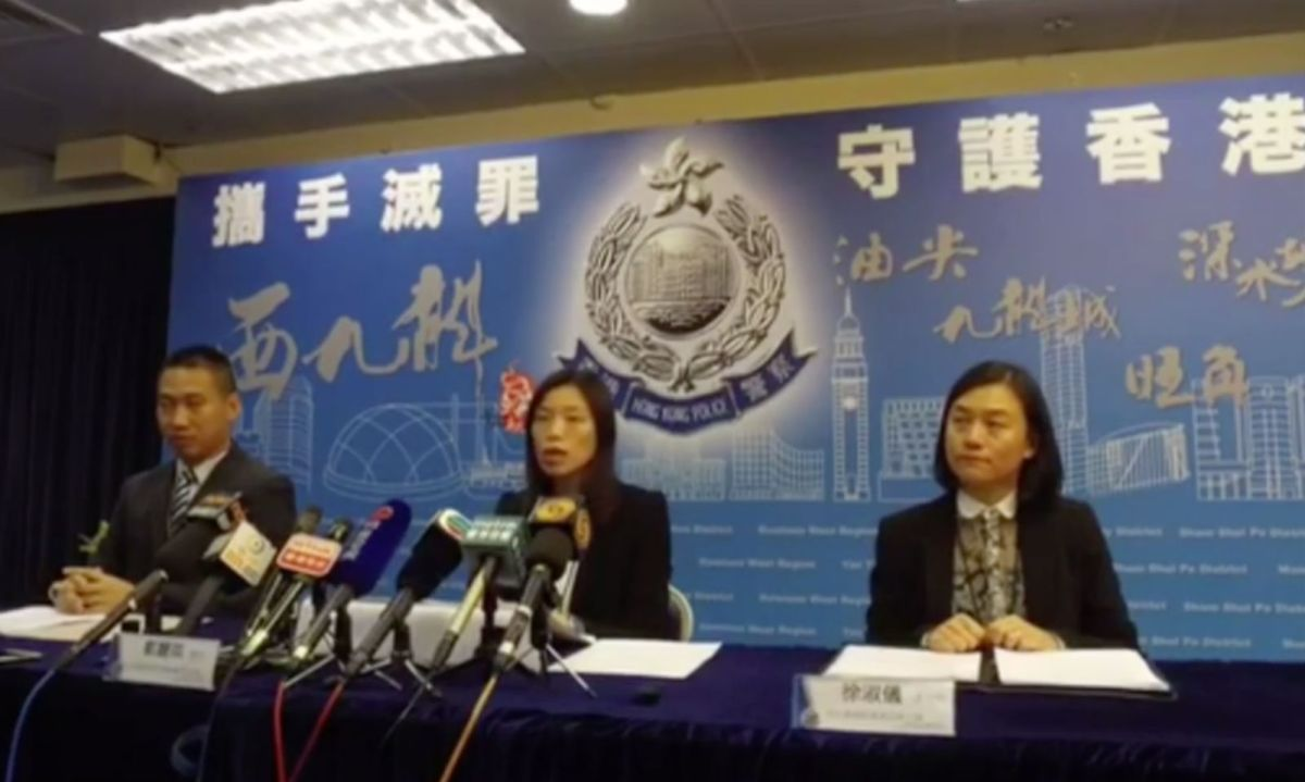 Hong Kong police arrested 71 people in a two-day special operation ended Tuesday. Photo: Facebook/ Hong Kong Police Force