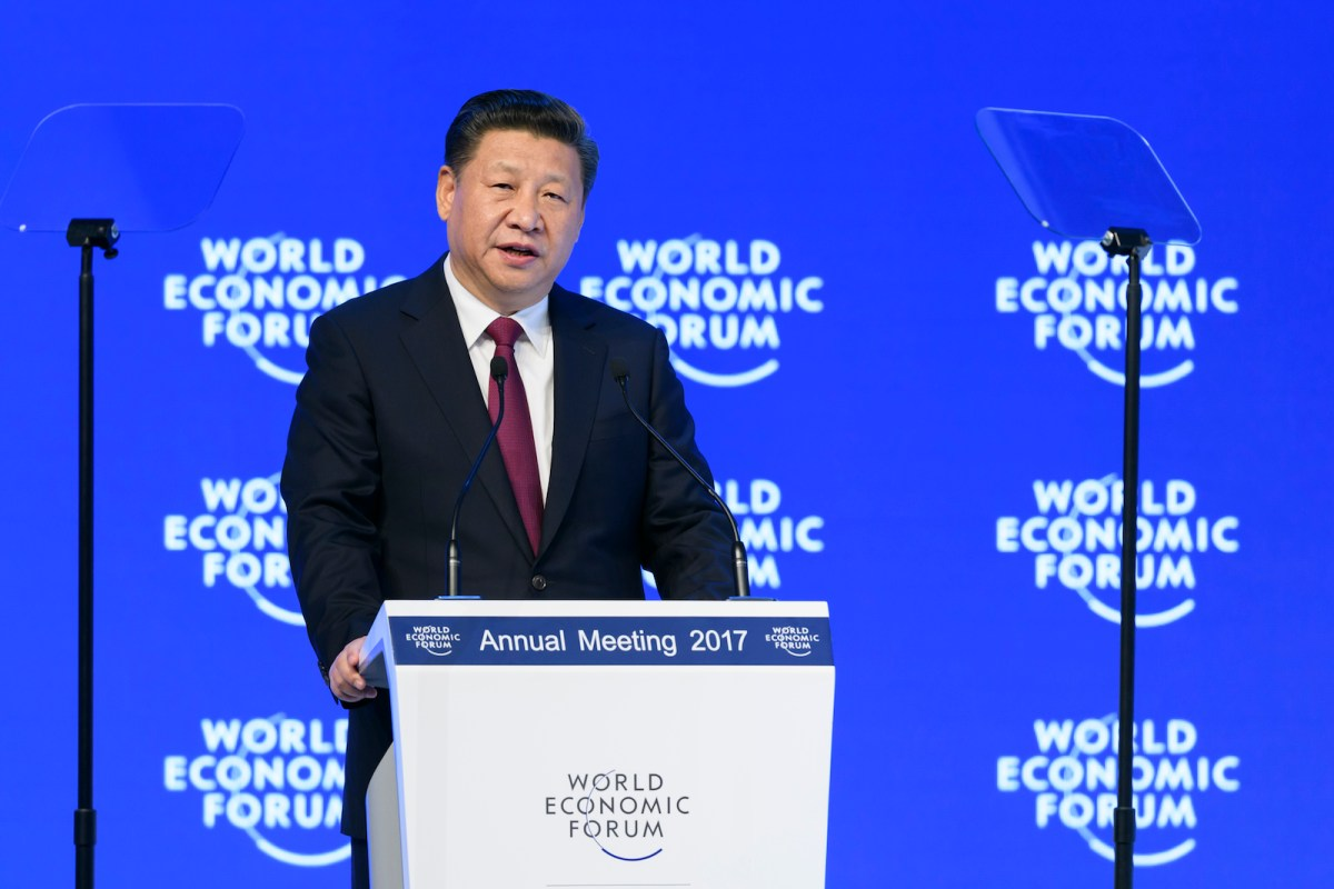 In the first speech by a Chinese head of state to the World Economic Forum in Davos, Switzerland, in January 2017, President Xi Jinping proclaimed his country the champion of an open global economy and that there is 'no point' in blaming economic globalization for the world's problems. China seeks to play a greater role in world trade amid rising protectionism in the US and Europe. Photo: AFP / Fabrice Coffrini