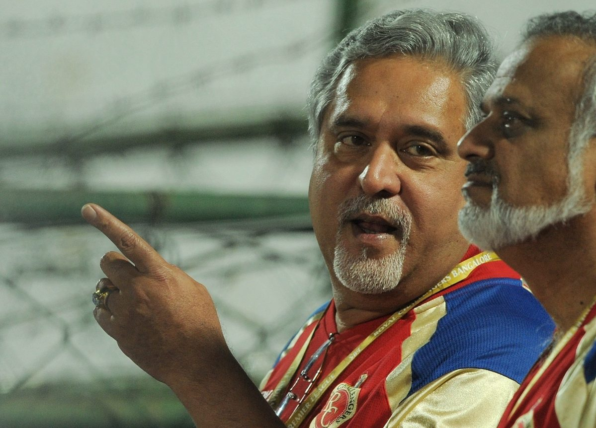 Vijay Mallaya, who owns Royal Challengers Bangalore, attends an IPL Twenty20 cricket match in Jaipur in 2012. Photo: AFP