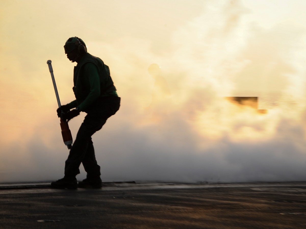 A US sailor on a cruiser in the Gulf of Iraq. Photo: US Navy