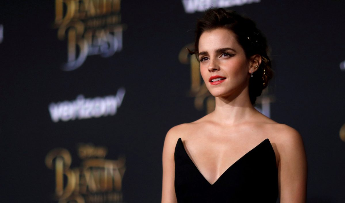 "Emma Watson poses at the premiere of ""Beauty and the Beast"" in Los Angeles, California, U.S. March 2, 2017.   Photo: Mario Anzuoni/File Photo/Reuters"