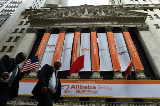 2017 could be the biggest year for Chinese IPOs in New York since 2014, the year of Alibaba's blockbuster listing. Photo: AFP, Jewel Samad