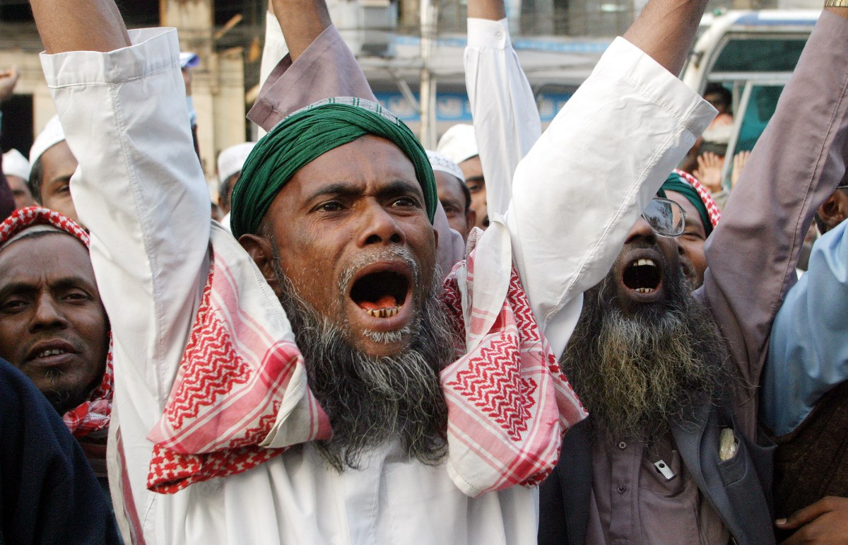 Members of an Islamic party protest against the US in the Bangladesh capital of Dhaka in this file photo. Photo: Reuters/Rafiqur Rahman