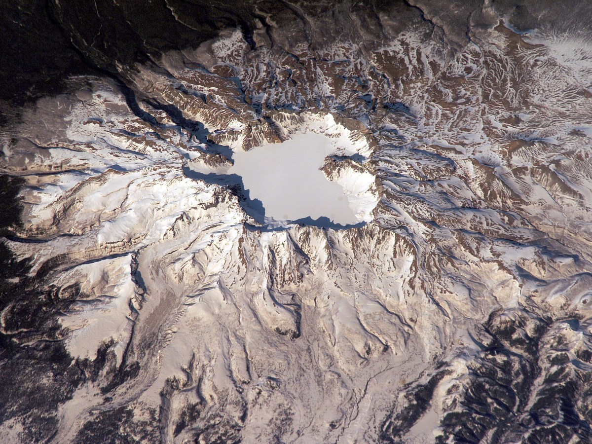 Changbai Mountain is considered the most dangerous of China's 14 active volcanoes. Photo: Nasa