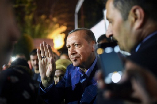Turkish President Recep Erdogan, seen here in April, has spoken out strongly in support of the Rohingya. Photo: AFP, Bulent Kilic