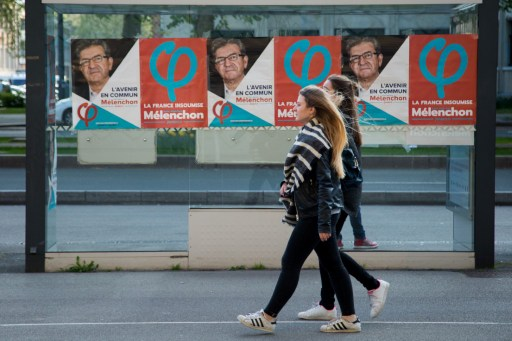 Posters depict some of the candidates in the Franche presidential elections. The two-stage vote s electionFrench far-left presidential candidate Jean-Luc Melenchon, who has seen a recent surge in the polls. Photo: AFP, Sputnik