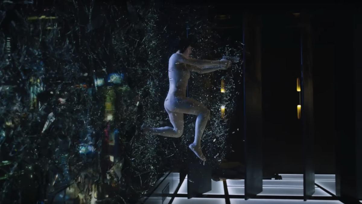 Scarlett Johansson as Major Mokoto Kusanagi in Ghost in the Shell. Photo: YouTube trailer