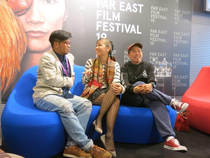 Making an impression: Kongkiat Khomsiri, Mattie Do and Ho Yuhang. Photo: Joshua Lim