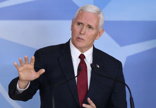 Vice President Mike Pence will begin a tour of four Asian countries on Saturday. Photo: Anadolu Agency