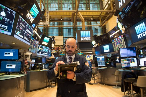 A trader works on the floor of the New York Stock Exchange. Photo: AFP/Bryan R Smith
