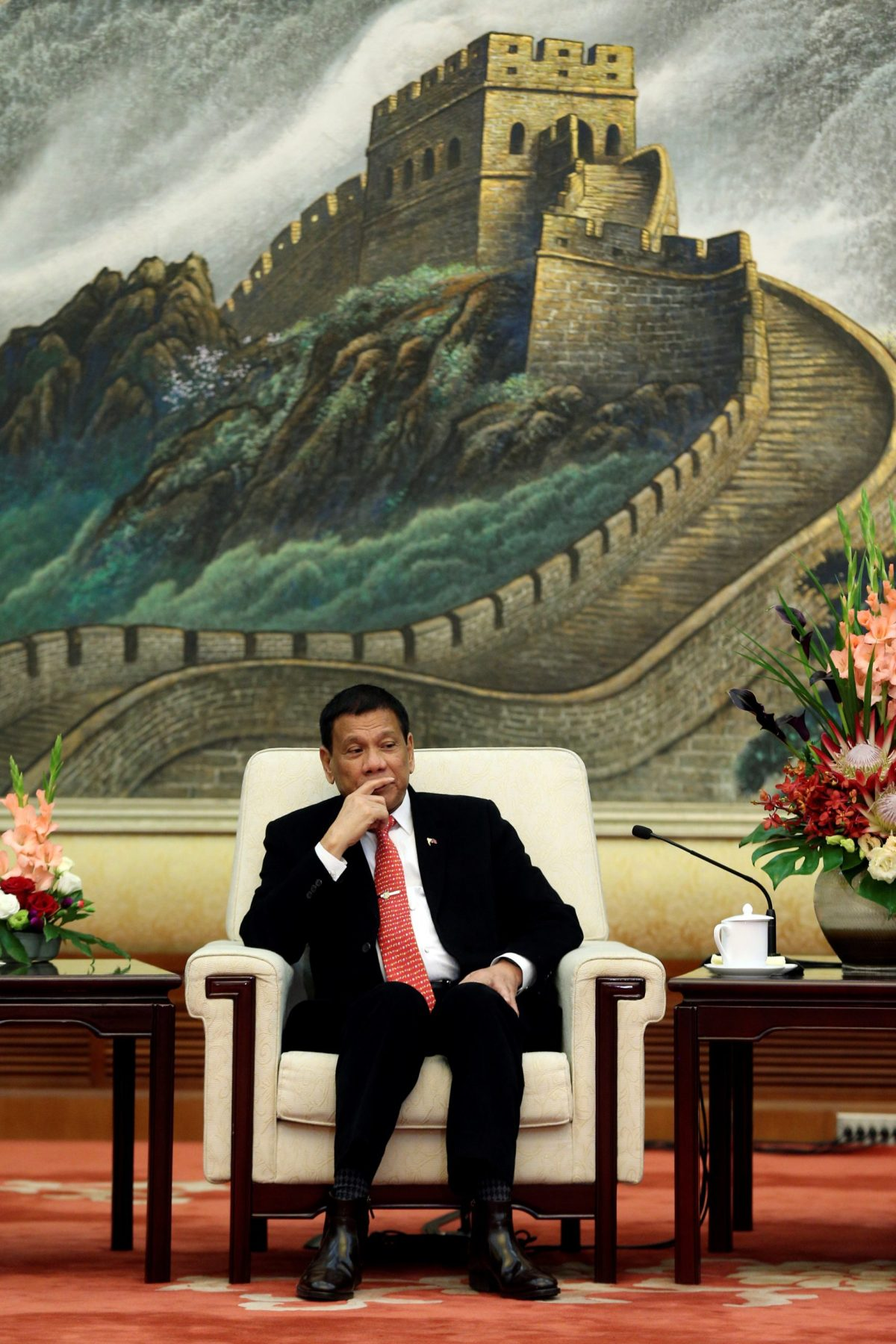 President Rodrigo Duterte's needs Chinese financing to build the US$4 billion Mindanao Railway. Photo: Reuters/Wu Hong