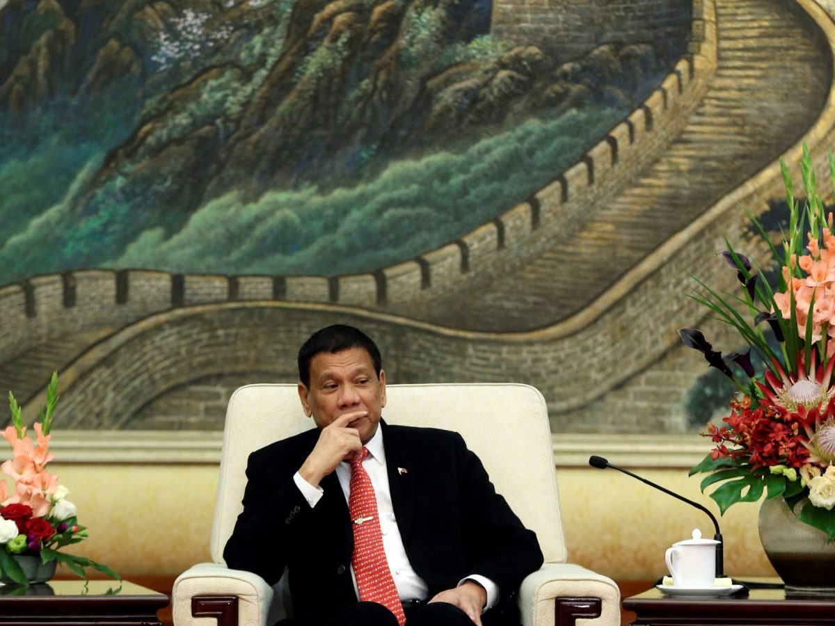 President Rodrigo Duterte's needs Chinese financing to build the US$4 billion Mindanao Railway. Photo: Reuters/Wu Hong