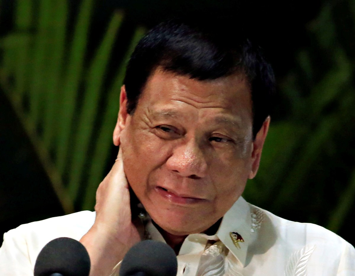 Philippine President Rodrigo Duterte has come under pressure from his defense establishment to take a tougher tack with China. Photo: Reuters /Romeo Ranoco